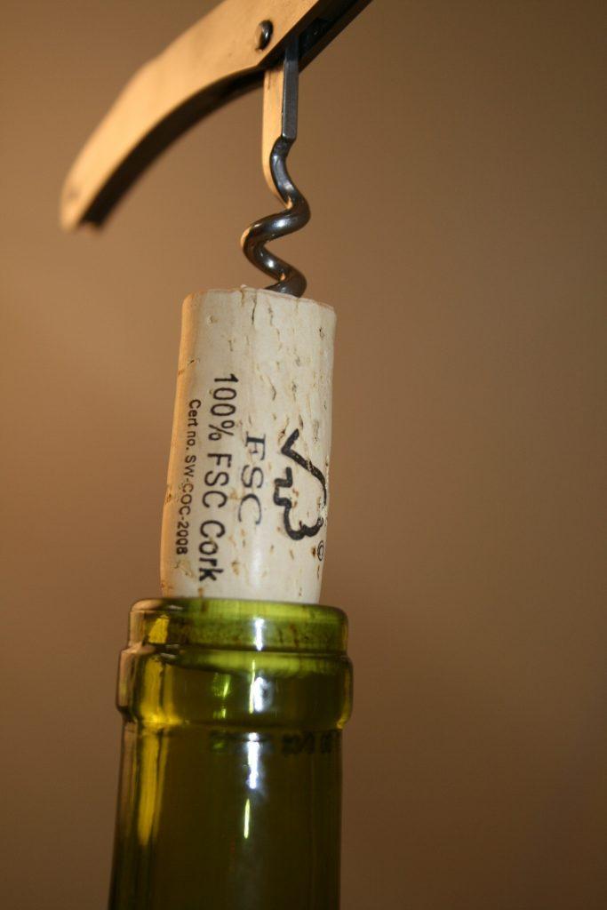 FSC cork in bottle